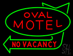 Oval Motel No Vacancy Neon Sign