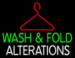Wash And Fold Alterations LED Neon Sign