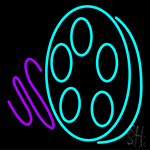 Movie Reel Icon LED Neon Sign