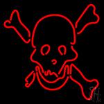 Skull Bones LED Neon Sign
