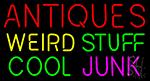 Antiques Weird Stuff Cool Junk LED Neon Sign