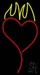 Heart With Flame LED Neon Sign