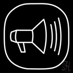 Announcement Speaker Neon Sign