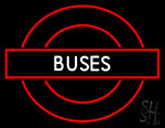 Buses Roundel Logo Neon Sign