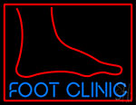 Foot Clinic With Foot LED Neon Sign
