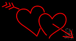 Heart With Red Arrow LED Neon Sign