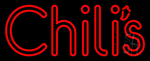 Double Stroke Red Chilis LED Neon Sign