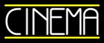 Single Stroke White Cinema Neon Sign