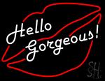 Hello Gorgeous Lip LED Neon Sign