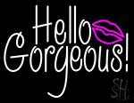 Hello Gorgeous Pink Lip LED Neon Sign