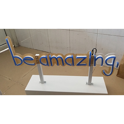 Stand Backing Neon Flex Sign