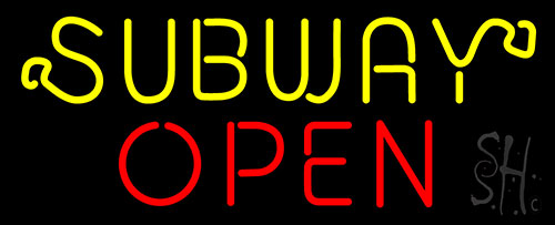 Subway Open Neon Sign