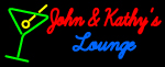 Custom John And Kathy Martini Glass Logo Neon Sign 5