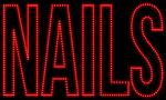Custom Nails Block Letter Led Sign 1