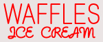 Custom Waffles Icecream Neon Sign 1