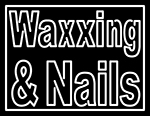 Custom White Waxxing And Nails LED Neon Sign 1
