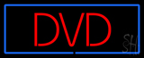 Red DVD Blue Border LED Neon Sign