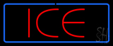 Red Ice Blue Border LED Neon Sign