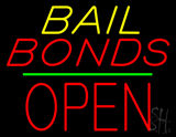 Bail Bonds Block Open Green Line LED Neon Sign