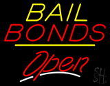 Bail Bonds Open Yellow Line LED Neon Sign