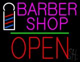 Pink Barber Shop Logo LED Neon Sign