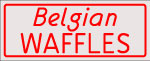 Custom Red Belgian Waffles Neon Sign 1