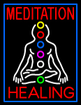 Custom Janey Meditation Healing LED Neon Sign 1