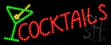 Cocktails Logo Animated LED Sign