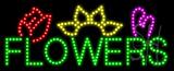 Flowers Logo Animated LED Sign