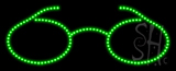 Glasses Logo Animated LED Sign