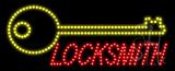 Locksmith Logo Animated LED Sign