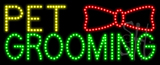 Pet Grooming Logo Animated LED Sign