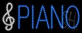 Piano Logo Animated LED Sign