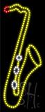 Saxophone Logo Animated LED Sign