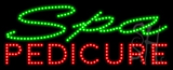 Spa Pedicure Animated LED Sign