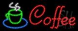 Coffee Logo Animated LED Sign