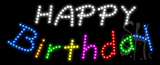 Happy Birthday Animated LED Sign