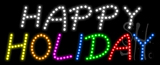 Happy Holiday Animated LED Sign