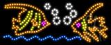 Fish Logo Animated LED Sign