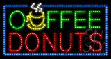 Coffee Donuts Animated LED Sign