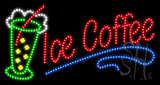 Ice Coffee Animated LED Sign