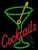 Cocktails Animated LED Sign