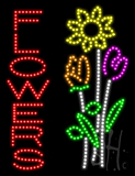 Flowers (vertical) Animated LED Sign