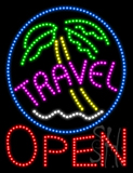 Travel Open Animated LED Sign