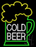 Cold Beer Animated LED Sign