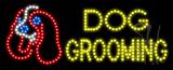 Dog Grooming Animated LED Sign