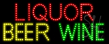 Liquor Beer Wine Animated LED Sign