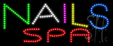 Nails Spa Animated LED Sign