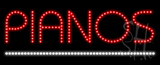 Pianos Animated LED Sign