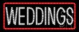 Weddings Animated LED Sign